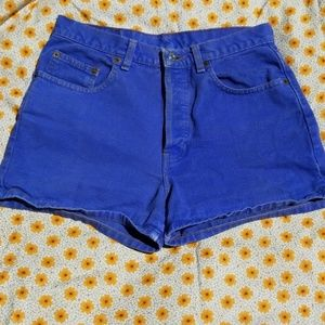 Vintage Gap High Waisted Blue Shorts